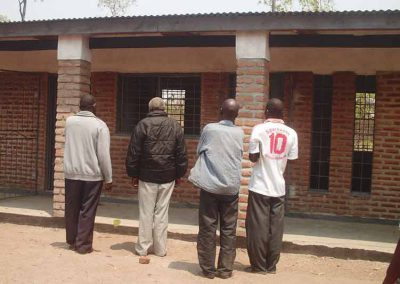 Feeding Shelter an der Nsanjama Schule